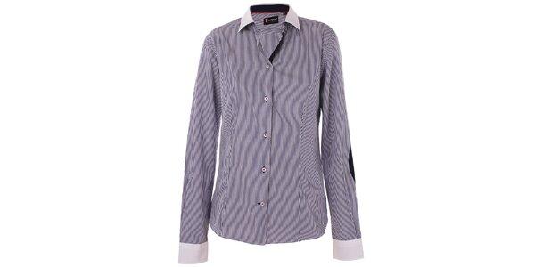 7e3f2e0b1b02 Dámska černo-biela prúžkovaná košeľa 7camicie