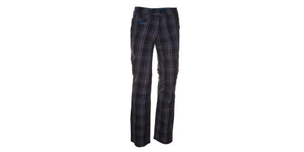 Pánske šedé nohavice s modrými detailmi Kilpi