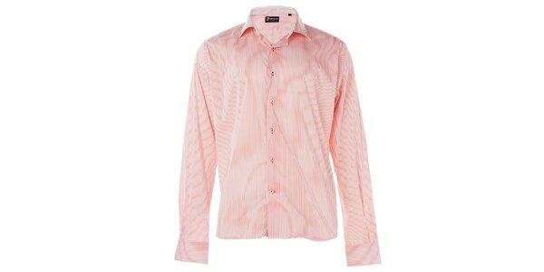 Pánska červená prúžkovaná košeľa 7camicie