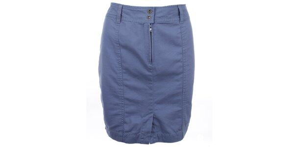 Dámska modrá sukňa s rozparkom Timeout
