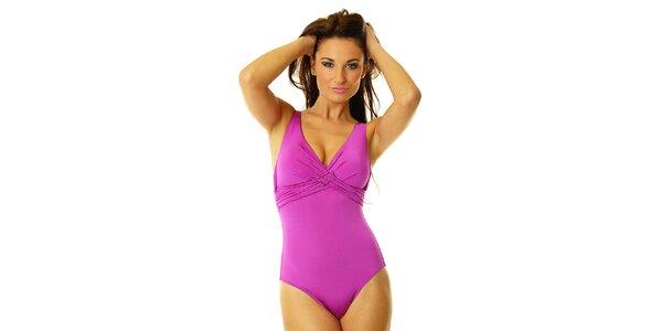 Dámske fialové jednodielne plavky Vacanze Italiane