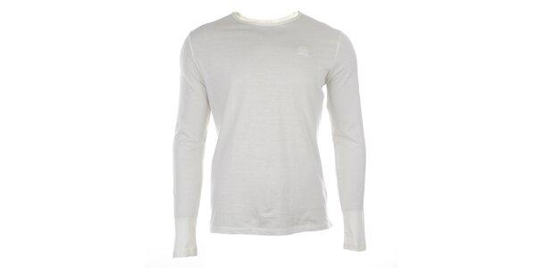 Pánske biele tričko s dlhým rukávom Timeout
