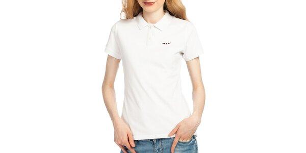 Dámske biele polo tričko Galvanni