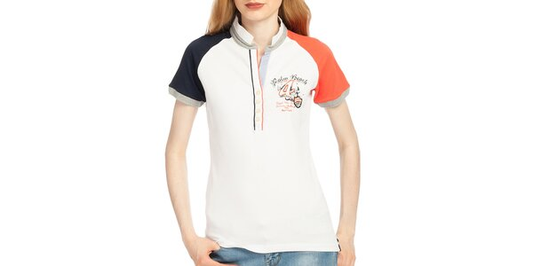 Dámske polo tričko s farebnými rukávmi Galvanni