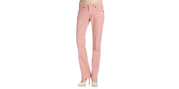 Dámske svetlo ružové nohavice Galvanni