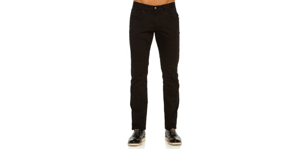 Pánske čierne nohavice Galvanni
