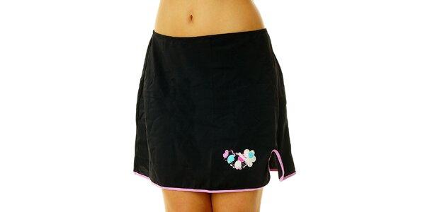 Dámska čierna suknička David s ružovým lemom