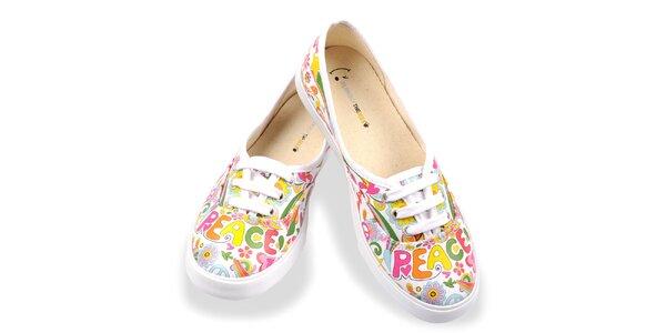 Dámske topánky s veselým farebným vzorom The Bees