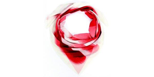 Dámska červeno vzorovaná šatka Fraas