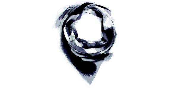 Dámska šedo vzorovaná šatka Fraas