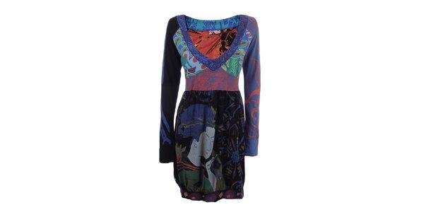 Dámske farebné šaty s dlhým rukávom Dislay DY Design