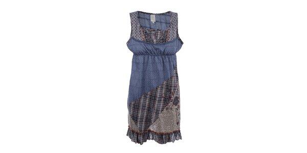 Dámske patchworkové šaty na ramienka Dislay DY Design