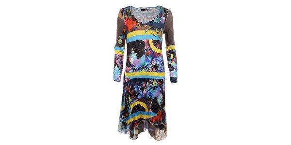 Dámske farebne vzorované šaty Dislay DY Design