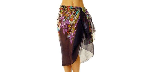 Dámske fialkový vzorovaný sarong Vacanze Italiane