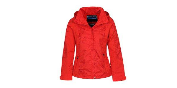 Dámska červená bunda s potlačou Bergson