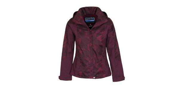 Dámska fialová bunda s potlačou Bergson