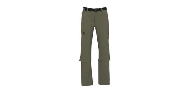 Dámske šedé funkčné nohavice so zipsami na nohaviciach Bergson