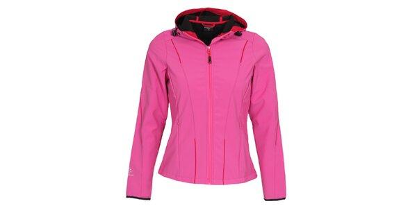 Dámska ružová softshellová bunda s kapucňou Bergson