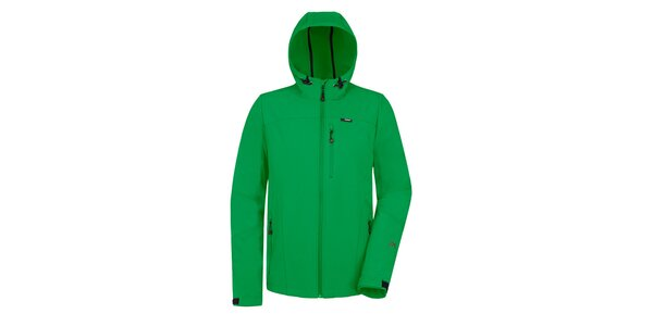 Pánska zelená softshellová bunda Maier
