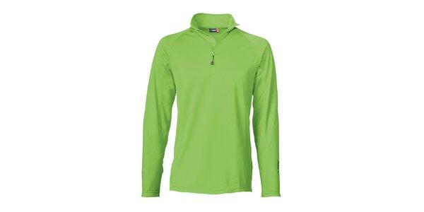 Pánske zelené lyžiarske tričko s dlhým rukávom Maier