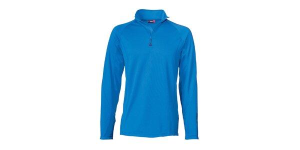 Pánske modré lyžiarske tričko s dlhým rukávom Maier