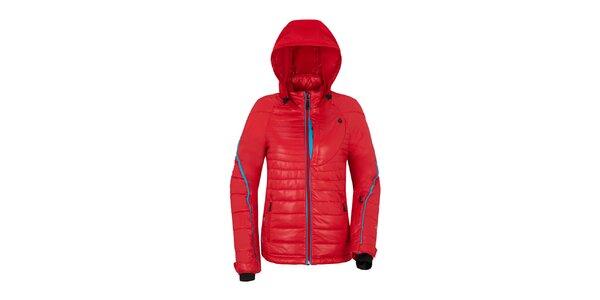 Dámska červená bunda s prešívaním Maier