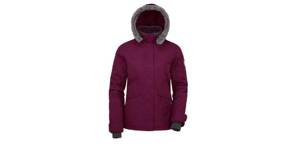Dámska fialová bunda s kapucňou Maier