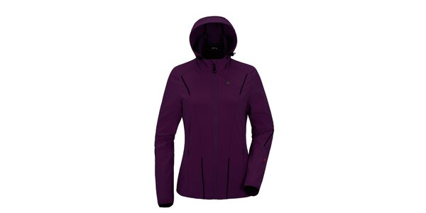 Dámska fialová softshellová bunda s kapucňou Maier