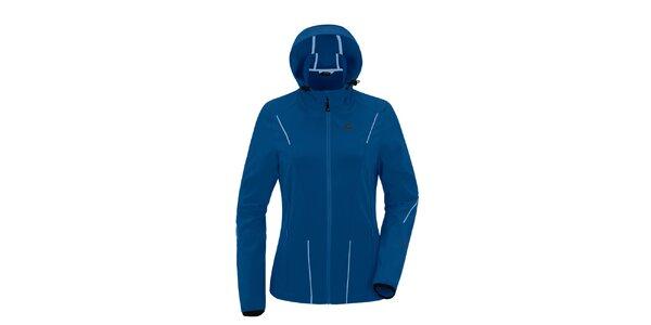 Dámska modrá softshellová bunda s kapucňou Maier