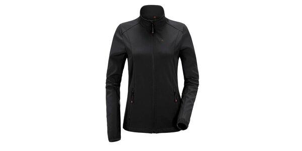 Dámska čierna softshellová bunda so stojačikom Maier