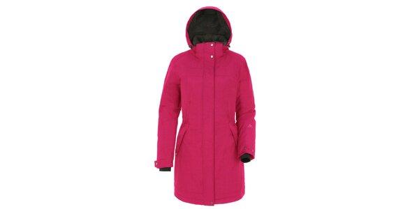 Dámsky ružový kabát s kapucňou Maier