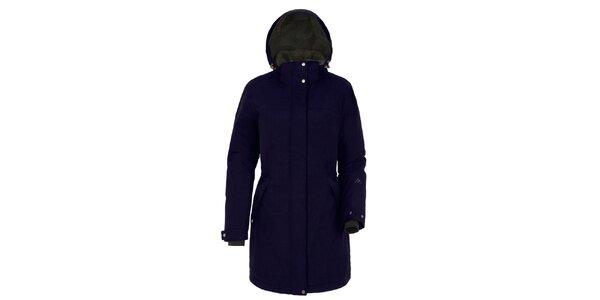 Dámsky modrý kabát s kapucňou Maier