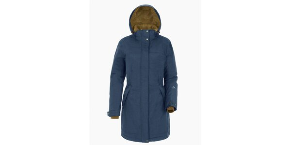 Dámsky svetlo modrý kabát s kapucňou Maier