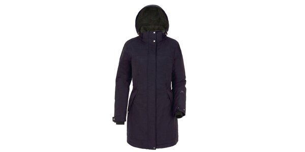 Dámsky tmavo modrý kabát s kapucňou Maier