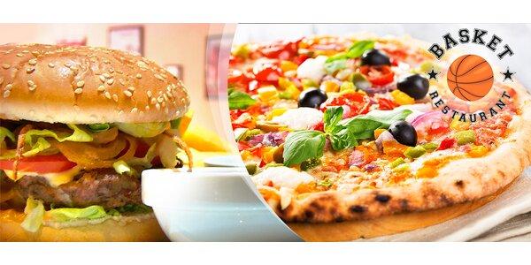 Poriadne šťavnatý burger či lahodná pizza!