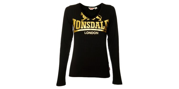 Dámske čierne tričko s dlhým rukávom Lonsdale