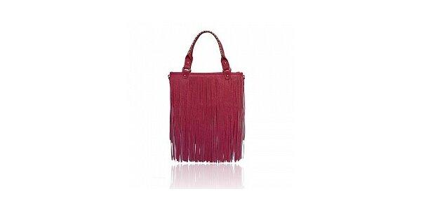 Dámska ružová kabelka London Fashion so strapcami
