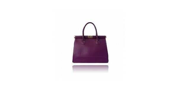 Dámska fialová lakovaná kabelka London Fashion