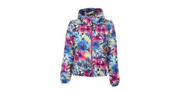 Dámska farebná bunda s kvetinami