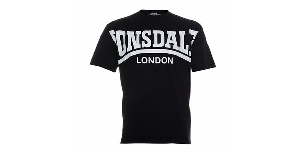 Pánske biele tričko Lonsdale so šedou potlačou
