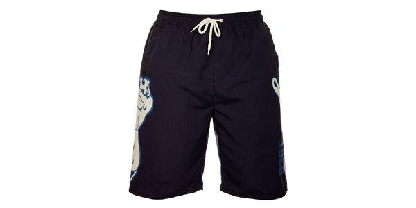 Pánske tmavo modré krátke nohavice Lonsdale