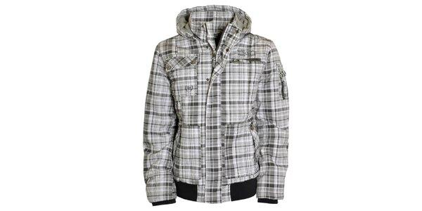 Pánska bielo-šedá bunda s kapucňou Urban Surface