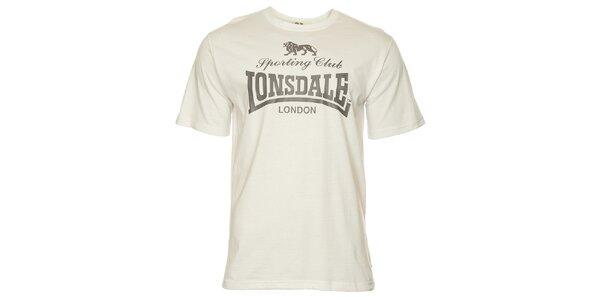 140ca917e20f Pánske biele tričko s potlačou Lonsdale