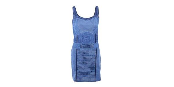 Dámske modré šaty na ramienka Angels Never Die