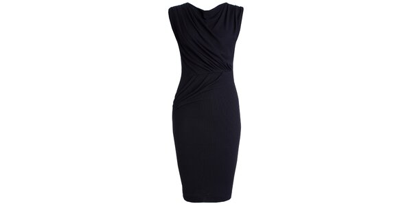 Dámske tmavo modré šaty s efektným riasením CeMe London