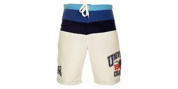 Pánske modro-biele krátke nohavice Lonsdale