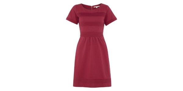 Dámske fuchsiové šaty s krátkymi rukávmi Uttam Boutique