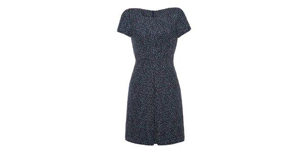 Dámske tmavé bodkované šaty Yumi