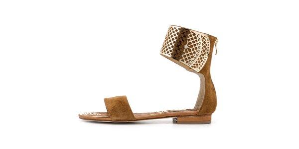 Dámske béžové sandálky so sponou Blink