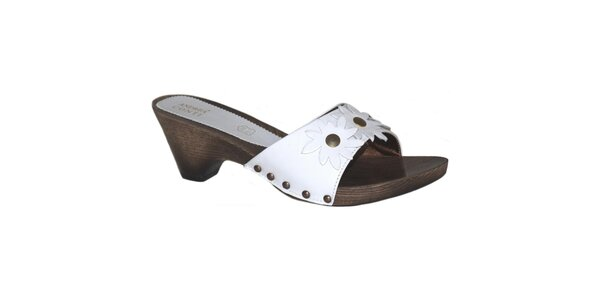 Dámske biele nazúvacie sandále Andrea Conti